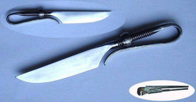 Кованый нож своими руками