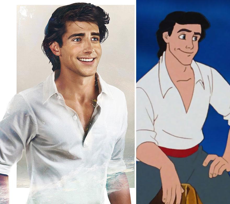 Как выглядели бы диснеевские принцы в реальной жизни