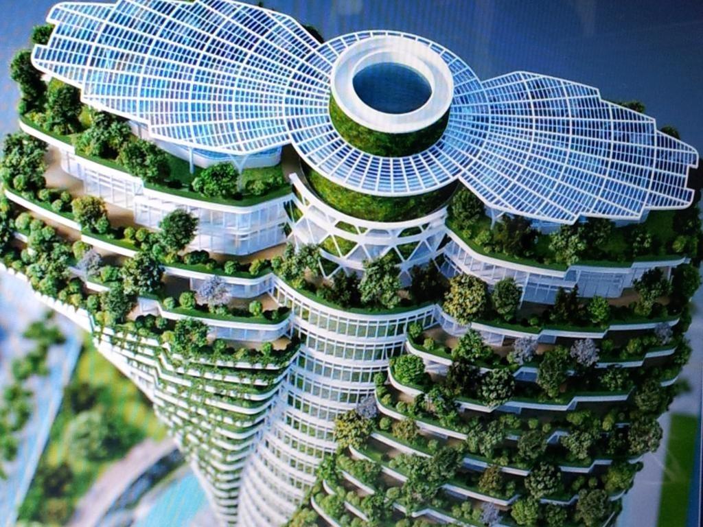 Уже в 2016 году Agora Garden в Тайбэе, здание в форме двойной спирали, станет компромиссом между творениями матери-природы и человека. Извилистое 20-этажное здание класса люкс будет зеленым во всех смыслах этого слова: балконы на каждом этаже будут поддерживать сады, а также предусмотрены внедренные системы жизнеобеспечения, включая солнечные батареи и переработку дождевой воды.