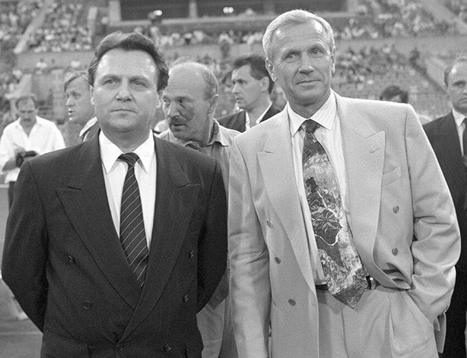 Председатель Госдумы РФ Иван Рыбкин (слева) и Вячеслав Колосков