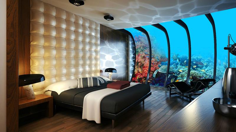 Номер в подводном отеле, Дубай.