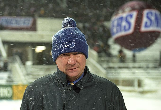 Борис Игнатьев на стыковом матче между сборными России и Италии.