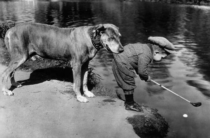 Настоящий друг. Снимок сделан в 1920-ом году.