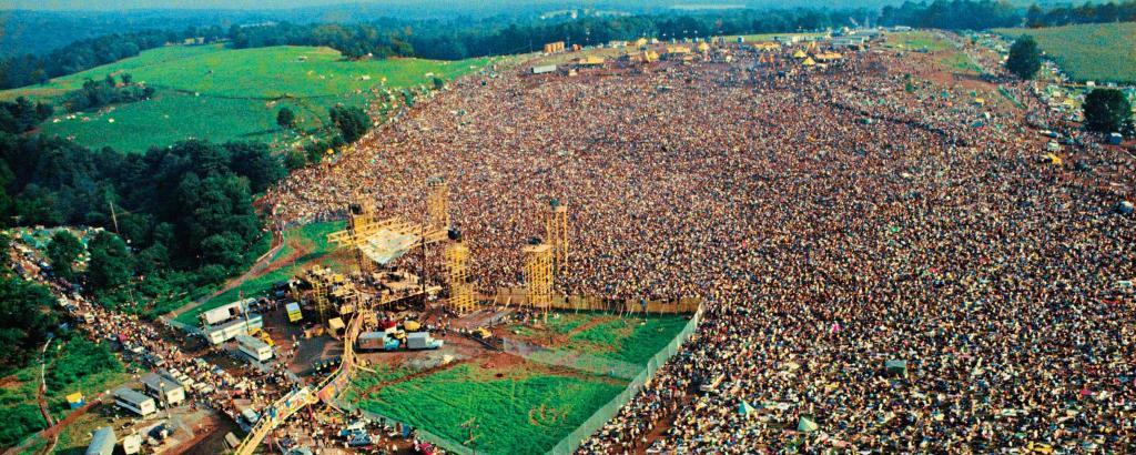 Рок–фестиваль Вудсток, 1969 год.