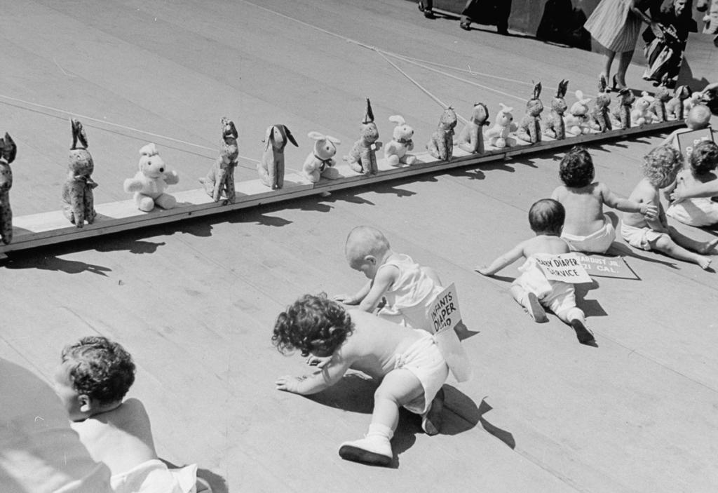 «Гонки карапузов» были очень популярными в 1940-х годах в США.