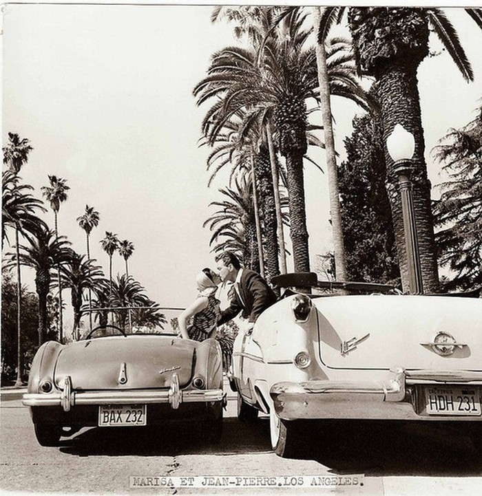 Жан-Пьер Омон и Мариса Паван. Лос-Анджелес, 1956 год