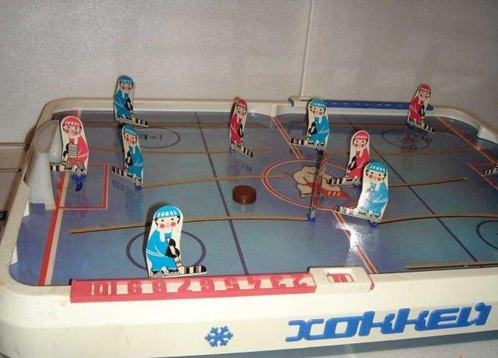 Советские игрушки. Настольный хоккей.