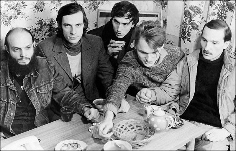 «Звуки Му», Александр Липницкий, Алексей Бортничук, Павел Хотин, Алексей Павлов, Петр Мамонов, 1988 год.