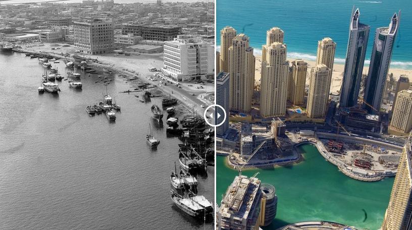 Как изменился Дубай за 60 лет. До и после