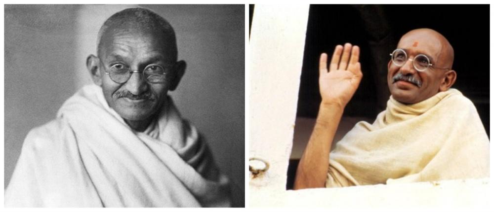 Махатма Ганди и Бен Кингсли, «Ганди»