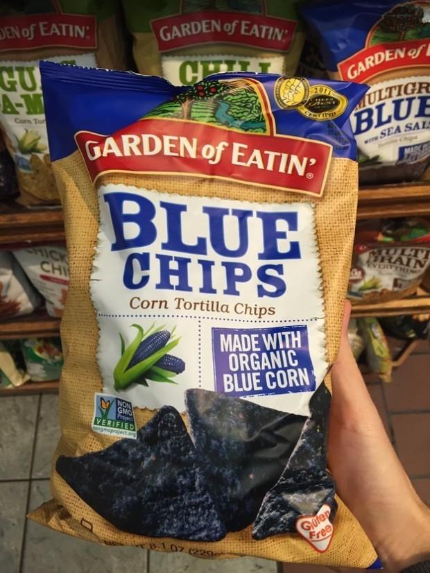 Чипсы из синей кукурузы