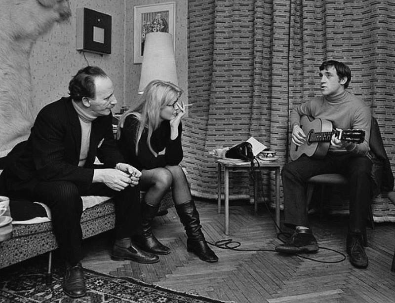 Макс Леон, Марина Влади и Владимир Высоцкий. 1969 год.
