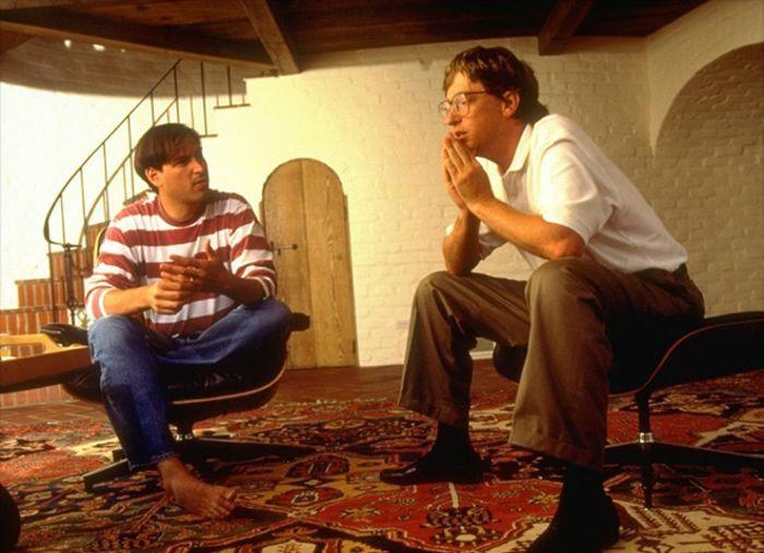 Стив Джобс и Билл Гейтс ведут занимательную беседу о компьютерных технологиях, 1991