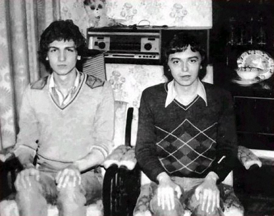 Константин Кинчев с другом. 1975 год.