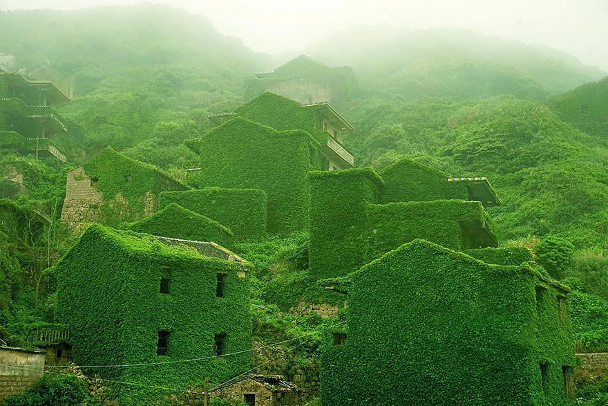 Заброшенная деревня на островке архипелага Шенгси