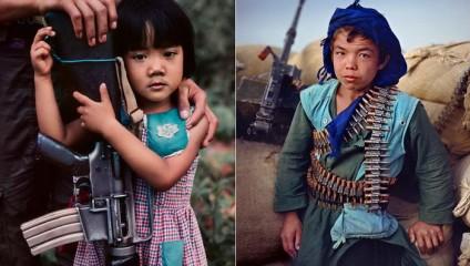 Шокирующие портреты детей, ставших солдатами раньше времени