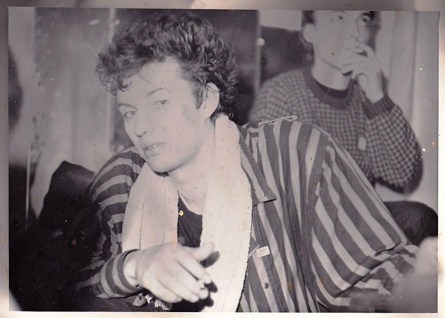 "Михаил Борзыкин (группа ""Телевизор"") в Ангарске. 1987 год."