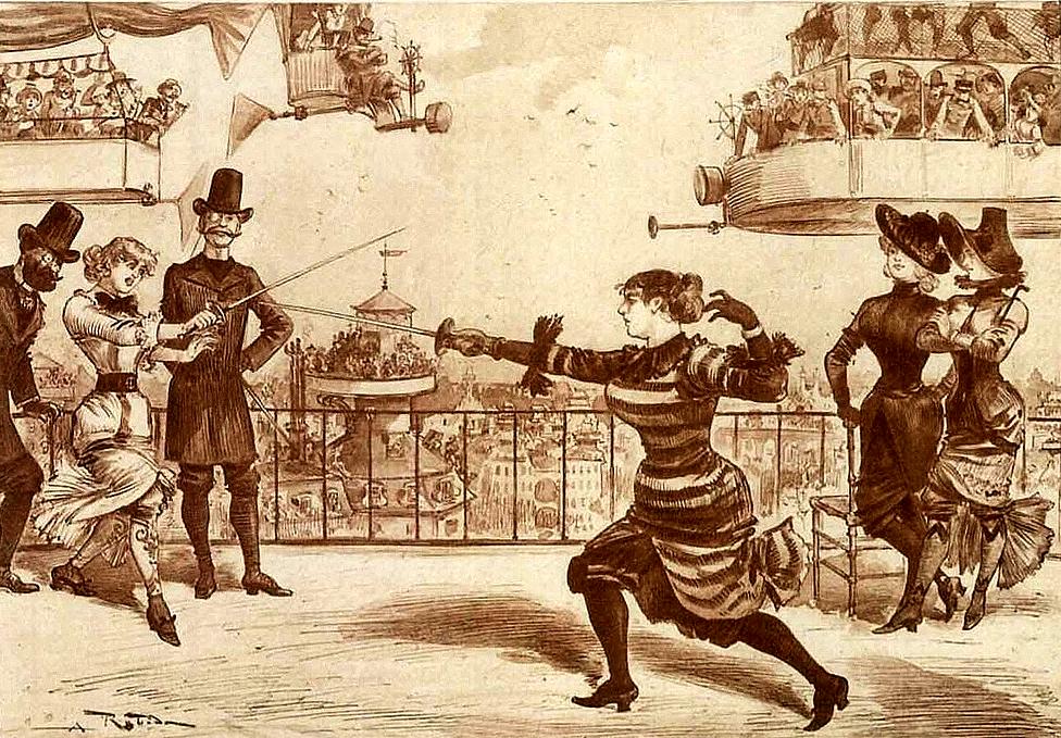 012-Un-duelo-de-periodistas-femeninas-Le-Vingtième-Siècle-1883-Albert-Robida
