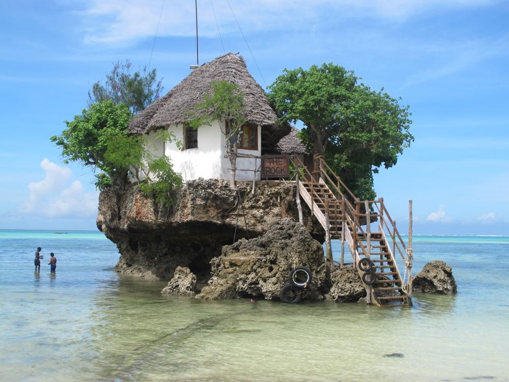 Ресторан The Rock («Скала»), Занзибар, Танзания