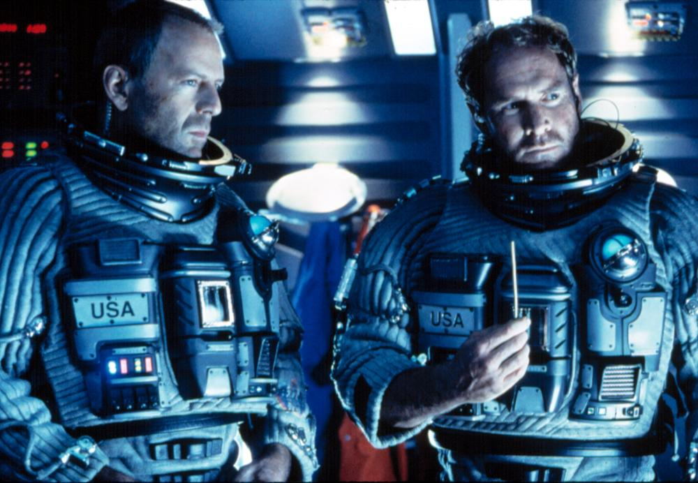 ARMAGEDDON, Bruce Willis, Will Patton, 1998.