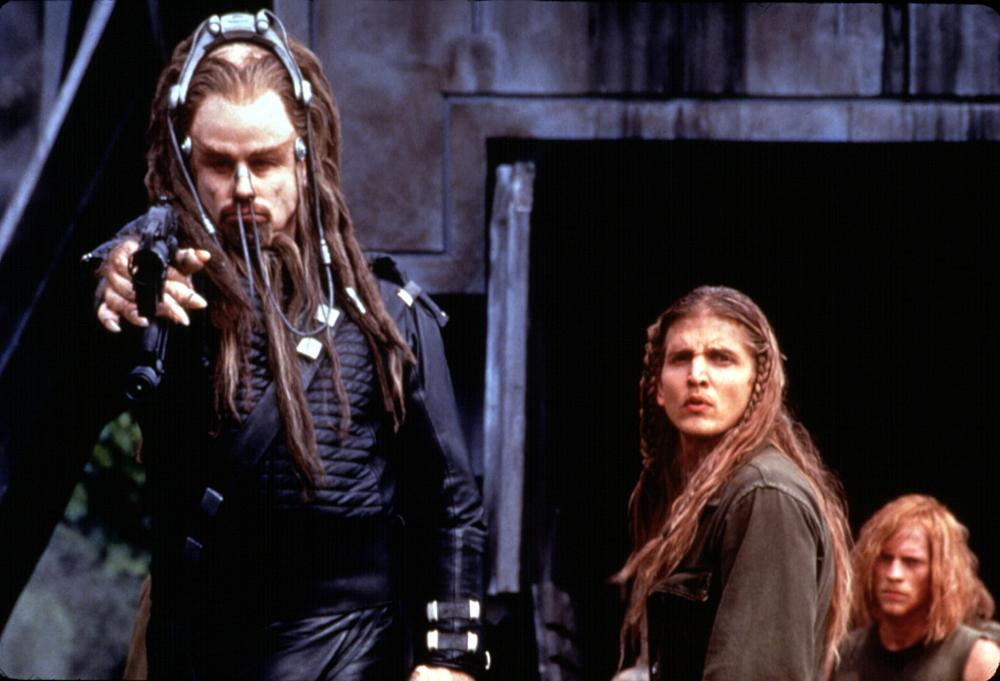 BATTLEFIELD EARTH, John Travolta, Barry Pepper, 2000