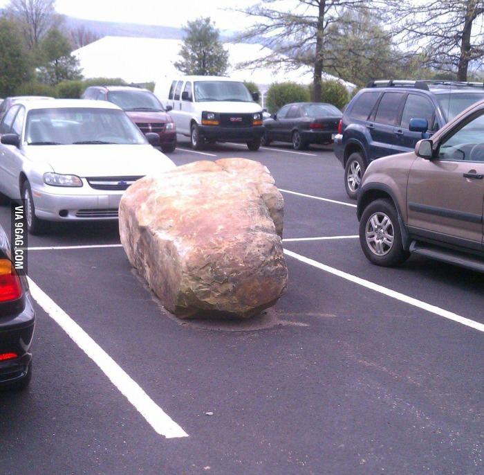 Тяжело наверное каждый день двигать этот камень