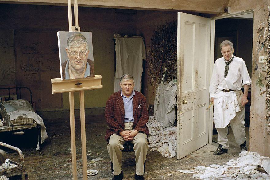 53. Люсьен Фрейд (Lucian Freud), портрет Дэвида Хокни