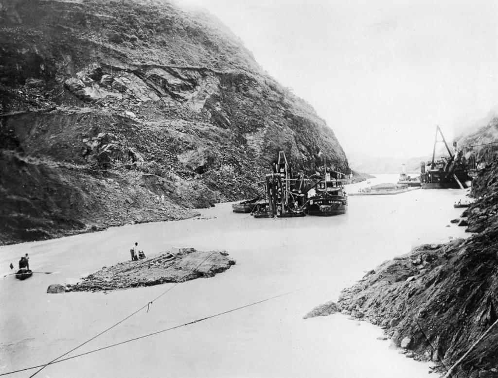 Building of the Panama Canal, Panama, late 19th-early 20th century.