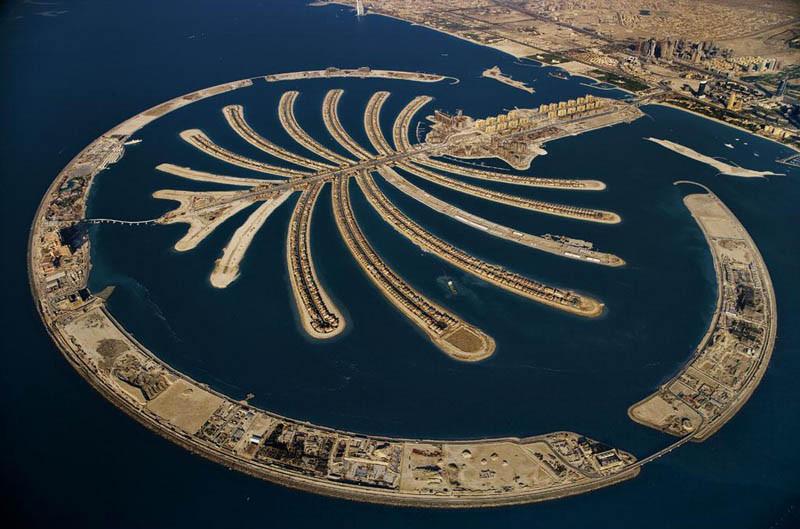 19. Искусственный остров Пальма Джумейра, Дубай, Объединенные Арабские Эмираты