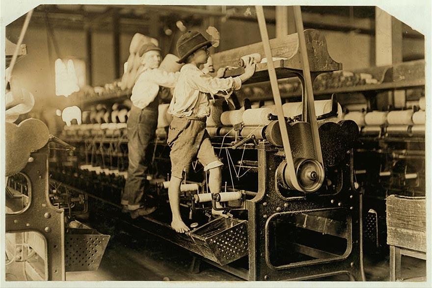 Мальчишки на фабрике, Макон, Джорджия, 1909