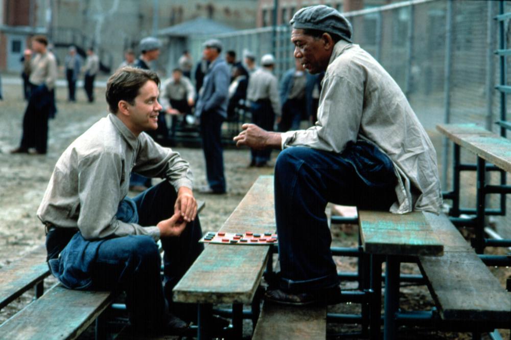 THE SHAWSHANK REDEMPTION, Tim Robbins, Morgan Freeman, 1994, (c) Columbia Pictures