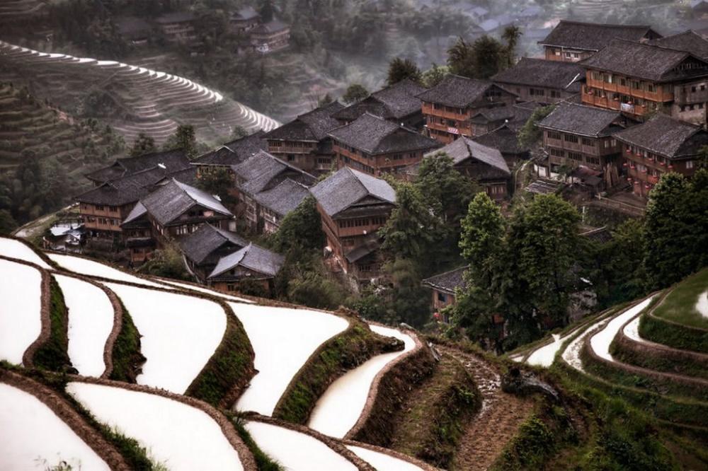 Горная деревня, Китай