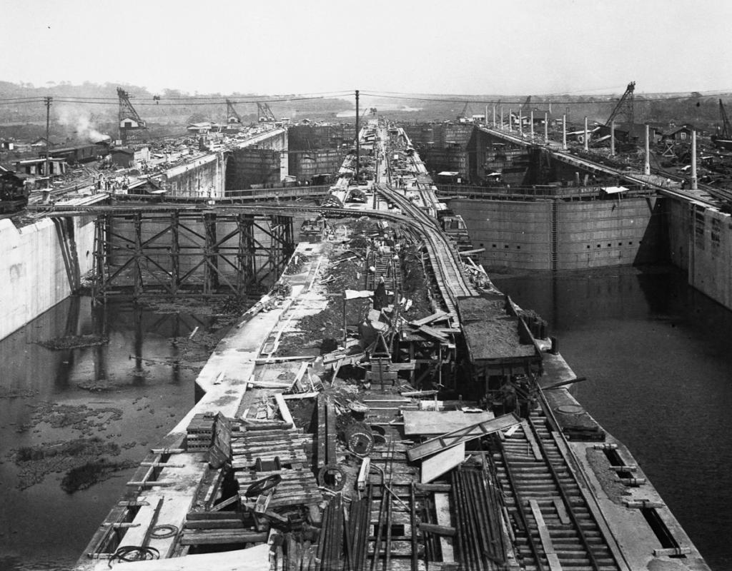 Gatun Locks Under Construction