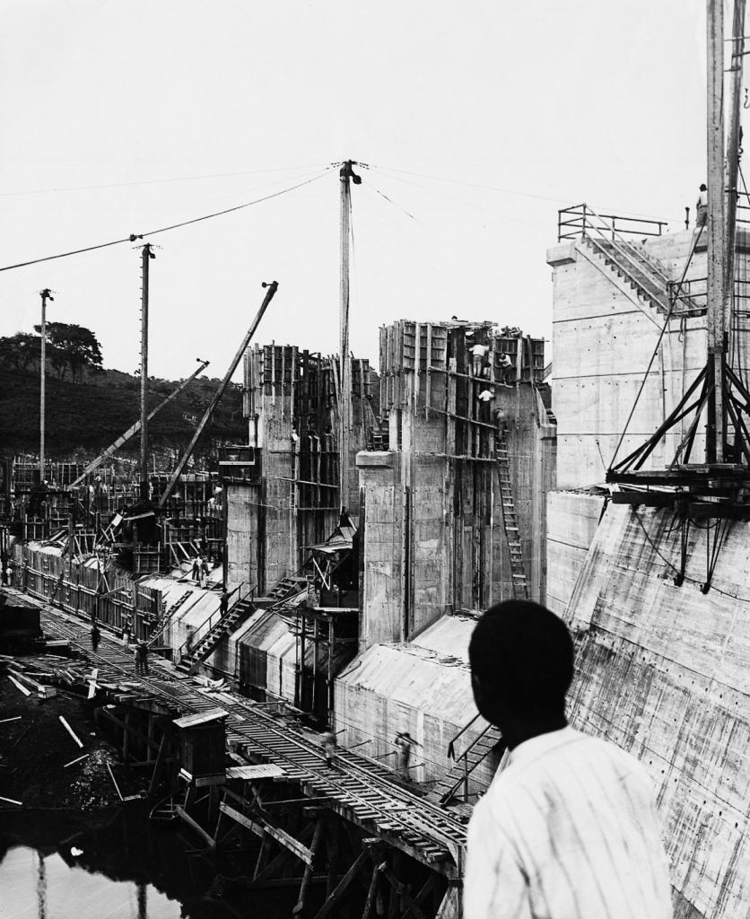 View of the Construction of the Panama Canal