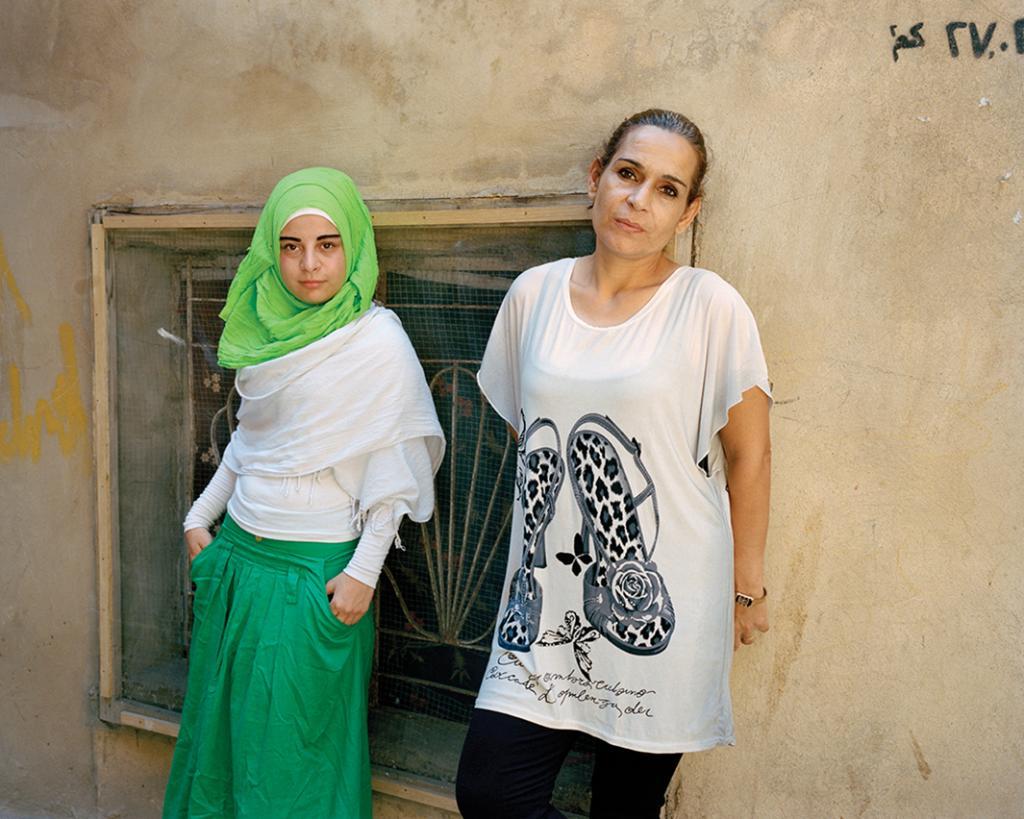 Eman and Radea, Bourj El Barajneh Refugee Camp, Beirut, Lebanon 2014.