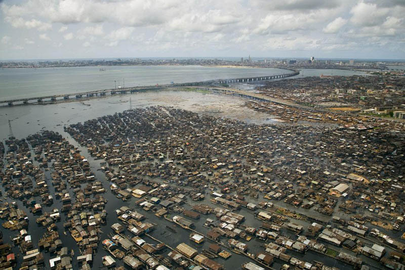 7. Трущобы Макоко, Лагосская лагуна, Нигерия