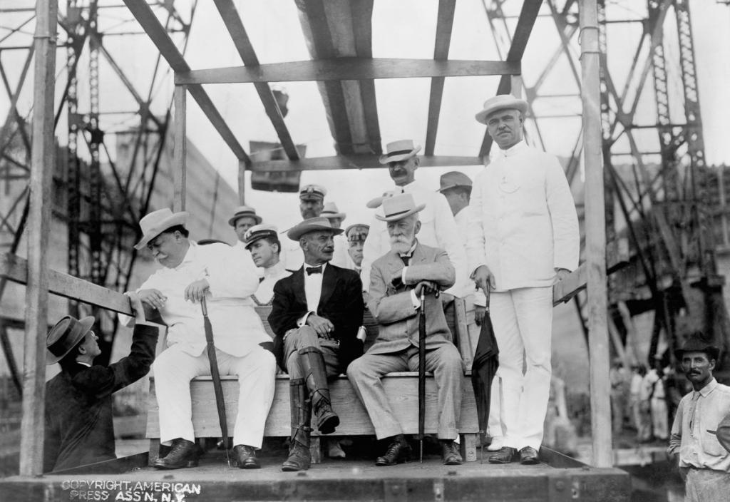 President William Taft at Panama Canal