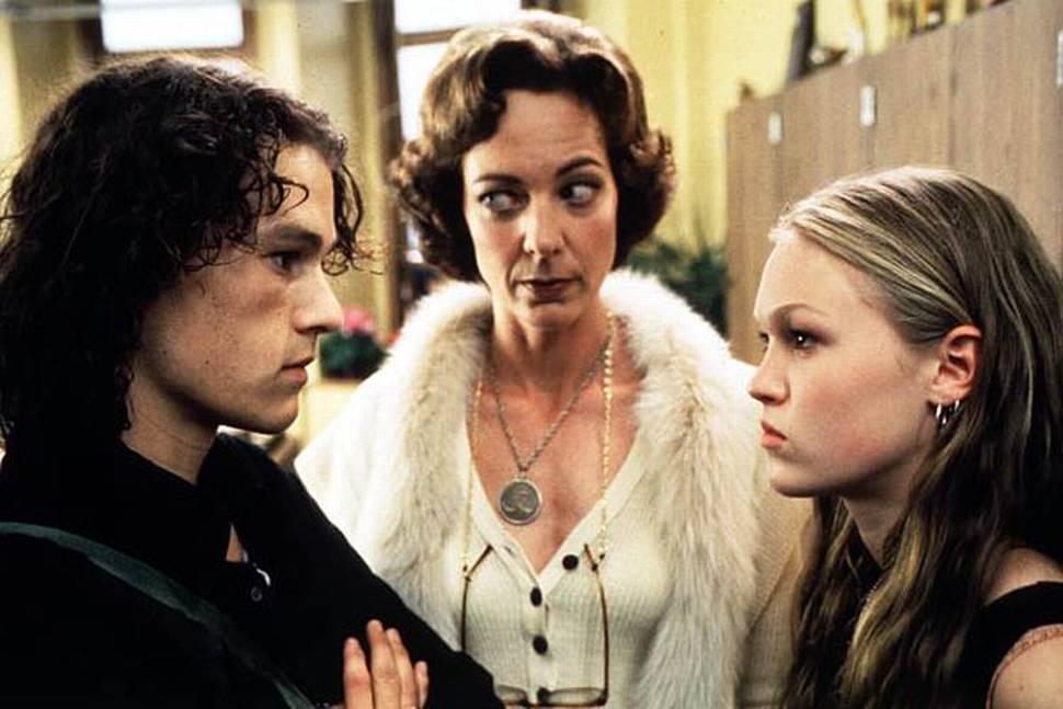 Heath Ledger, Julia Stiles og Allison Janney i 10 Things I Hate About You