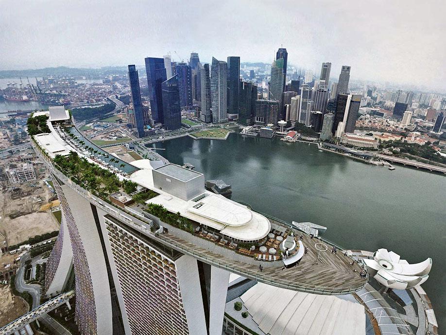 БАССЕЙН ПОД ОБЛАКАМИ: MARINA BAY SANDS В СИНГАПУРЕ. 3