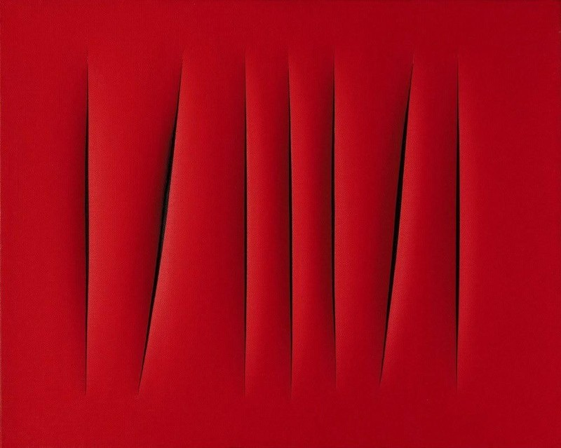 1. Лучо Фонтана. «Пространственная концепция. Ожидание» — 1,5 млн долларов