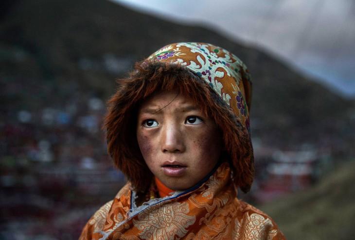 Маленький тибетский буддийский кочевник.