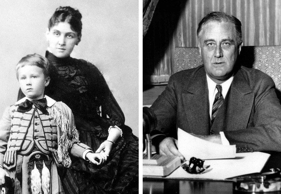 2. Мать Рузвельта — Сара Делано (1854 - 1941).