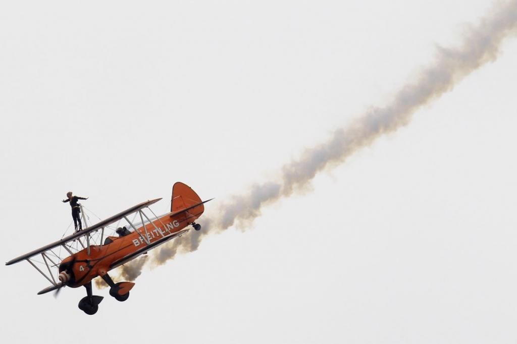������������� ����� �� ������� Boeing Stearman �� ����� 50-�� ��������� ��������������� �������� Paris Air Show 2013