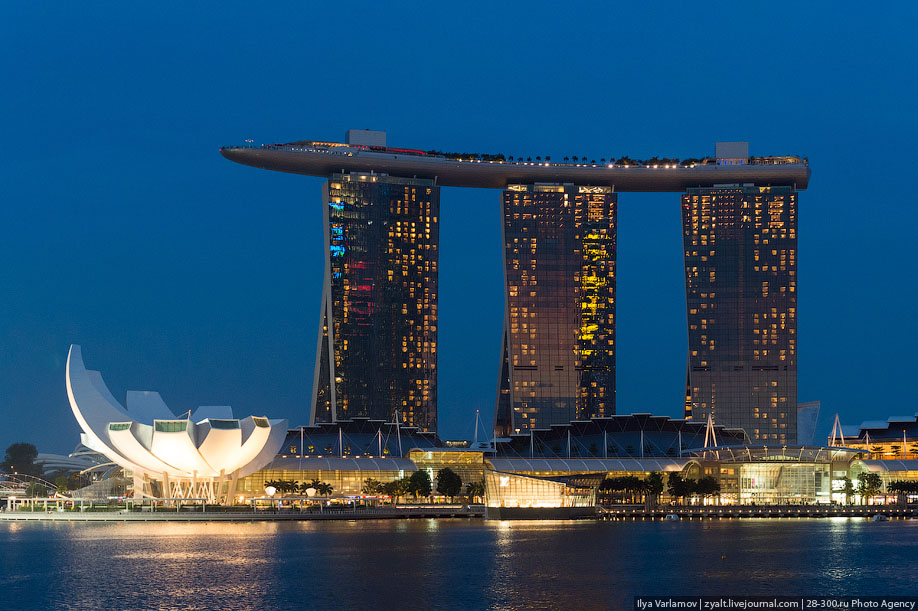 БАССЕЙН ПОД ОБЛАКАМИ: MARINA BAY SANDS В СИНГАПУРЕ. 17