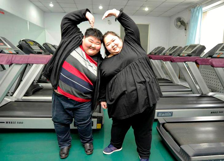 Самая толстая пара Китая хочет сбросить вес, чтобы завести ребенка