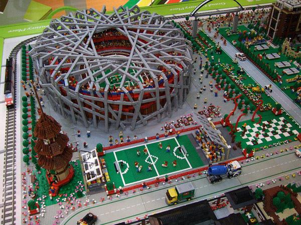 LEGO спортивный городок был построен в преддверии Олимпийских игр в Пекине.
