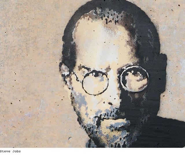 Бэнкси нарисовал потомка сирийских мигрантов Стива Джобса на стене в лагере беженцев