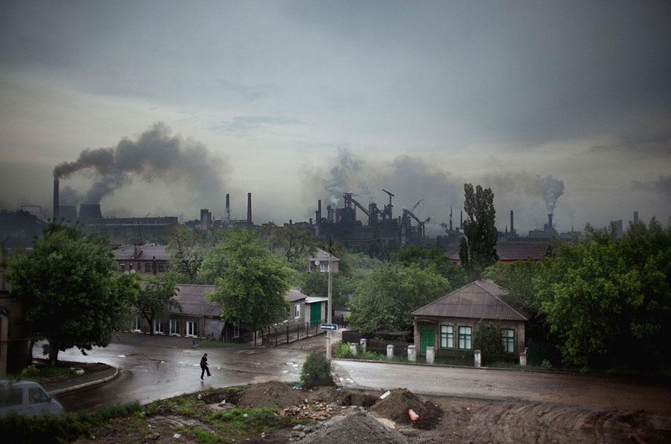 Енакиево, город на востоке Украины.