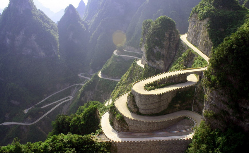 Дорога Tianmen Mountain, Китай