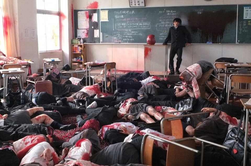 Бойня в классе («Страшная воля богов/ Kamisama no iu tori», 2014)
